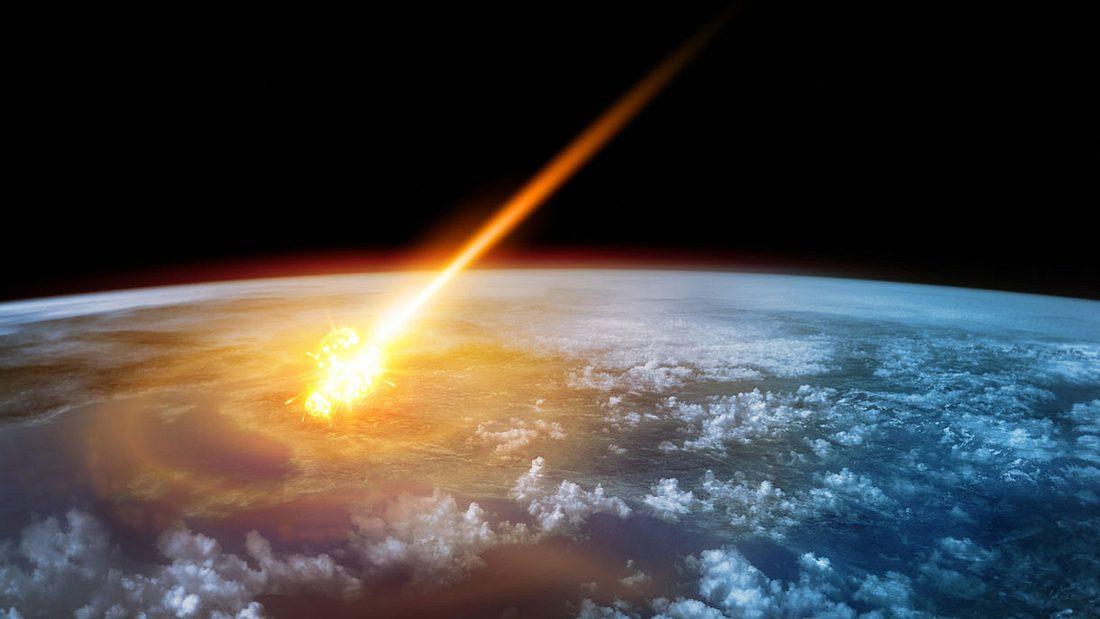 Himmelskörper-Einschlag auf der Erde