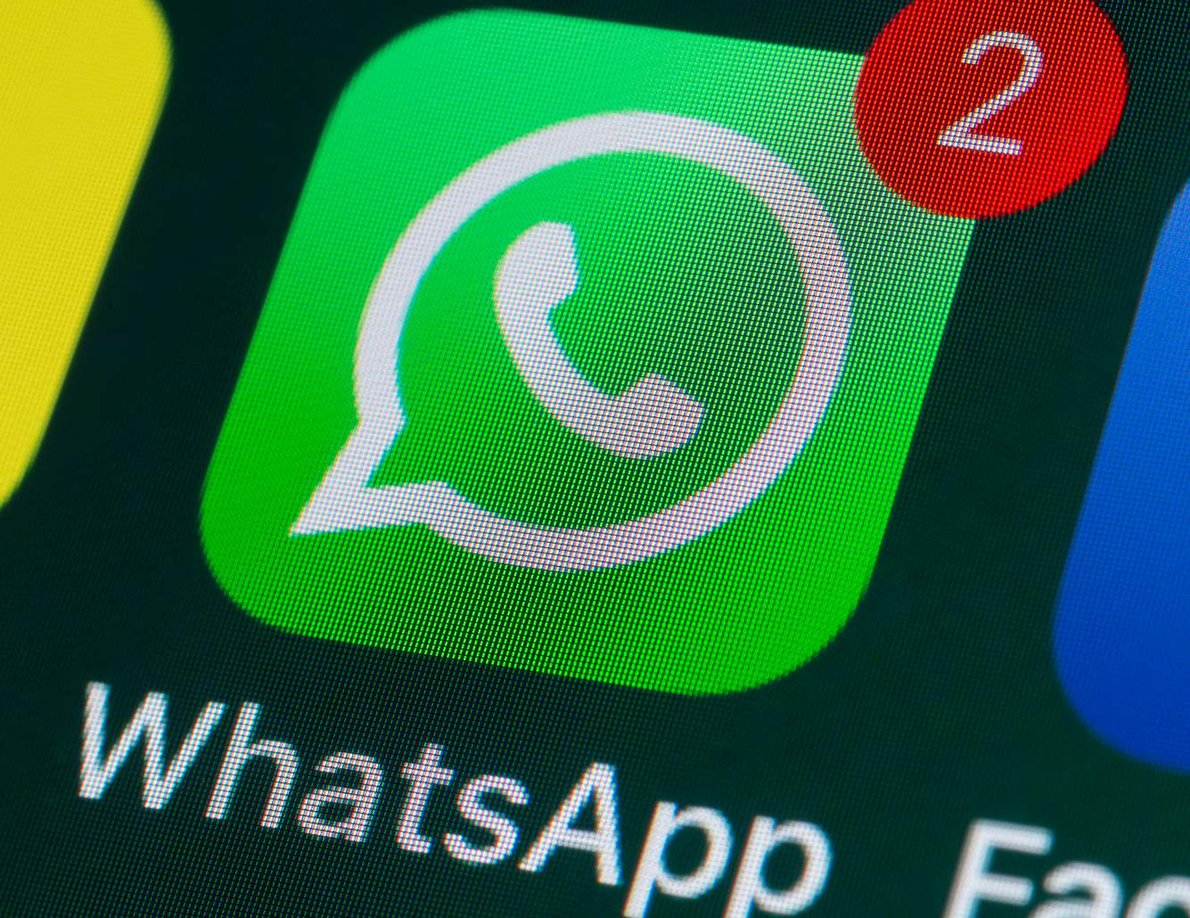 WhatsApp auf Display