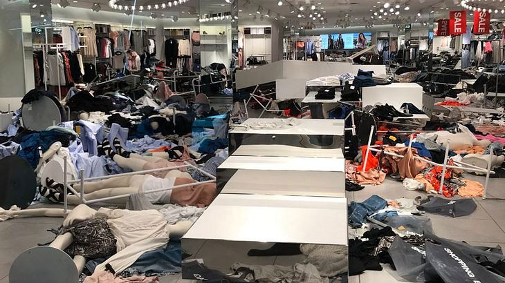Verwüstete H&M-Filiale in Südafrika