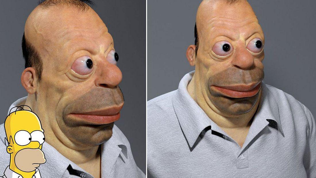 Homer Simpson als echter Mensch