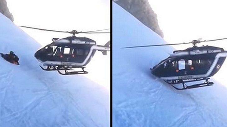 Hubschrauber-Bergrettung
