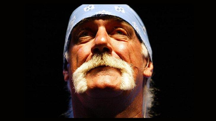 Wrestler Hulk Hogan mit seinem Markenzeichen-Schnurrbart