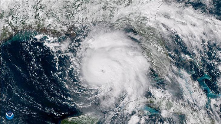 Hurricane Michael, Satelliten-Aufnahme