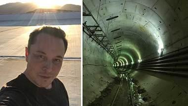 So sieht die Hyperloop-Teststrecke in Kalifornien aus - Foto: Instagram / elonmusk
