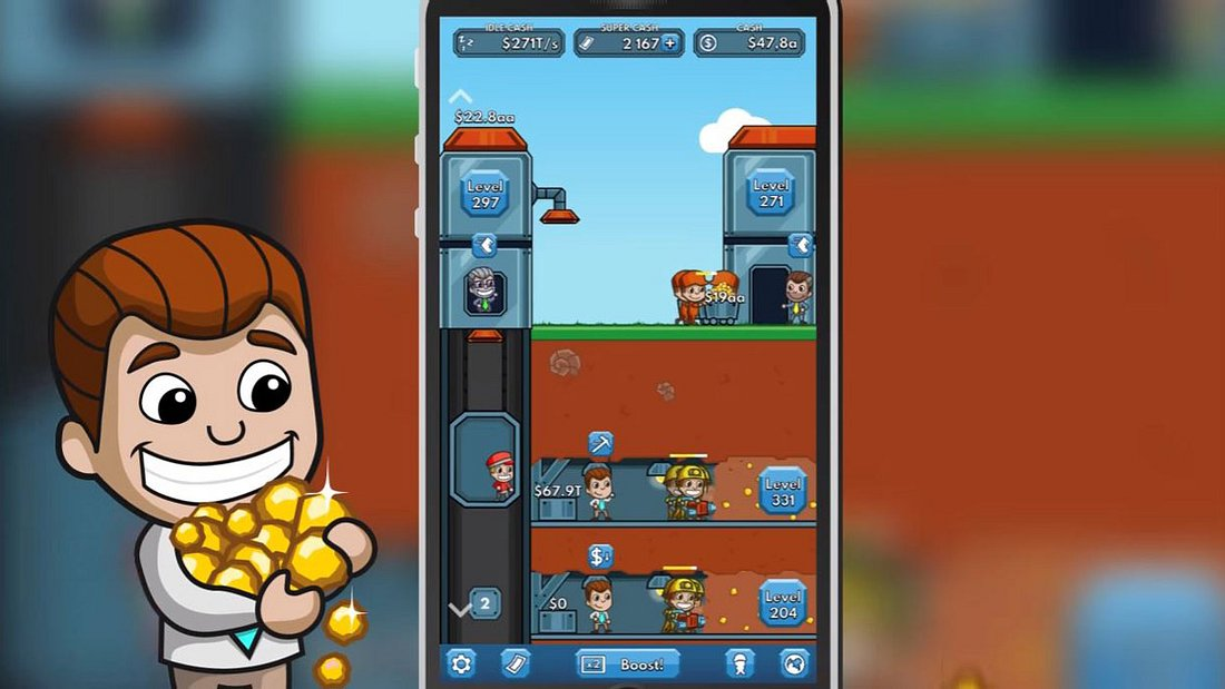 Fluffy Fairy Games entwickeln Game Idle Miner Tycoon