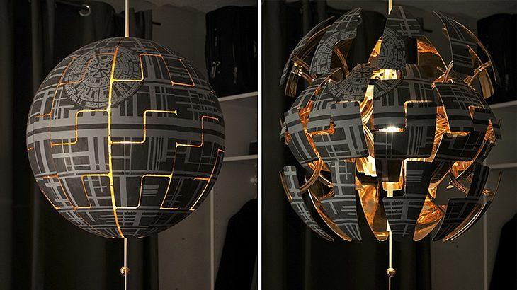 video anleitung aus ikea lampe wird todesstern m nnersache. Black Bedroom Furniture Sets. Home Design Ideas
