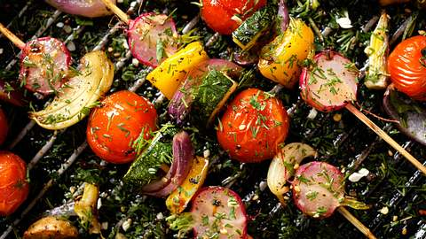 Grill-Gemüsespieße