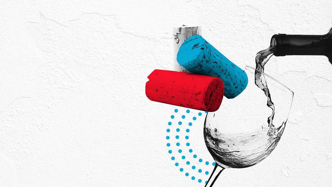 So entkorkst du eine Weinflasche ohne Korkenzieher - Foto: iStock / valentinrussanov / jjpoole
