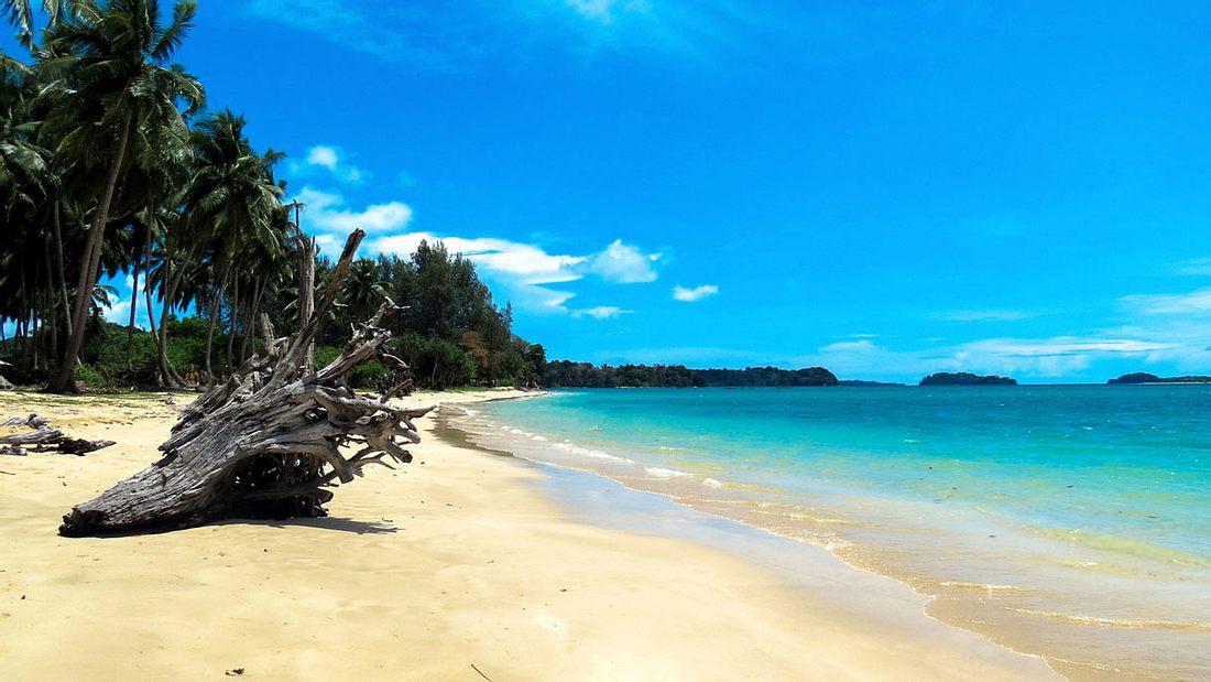 Eine Andaman-Insel in Indien
