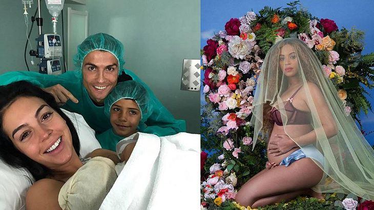 Cristiano Ronaldo mit Frau und viertem Kind; und Beyonce