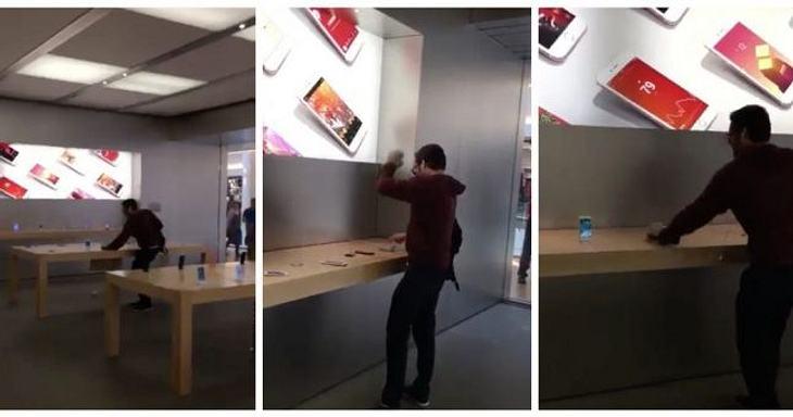 Ein Mann im französischem Dijon zerstörte über 100 Geräte eines Apple Stores