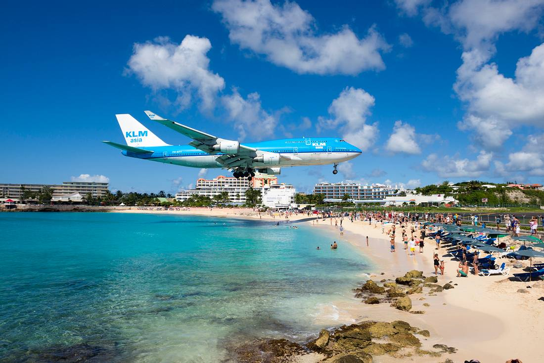 Der Princess Juliana International Airport auf St.Maarten