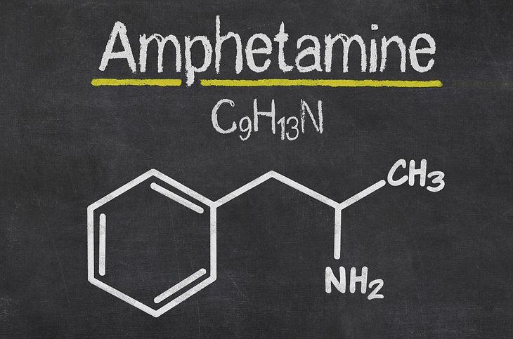 Die chemische Formel von Amphetamin
