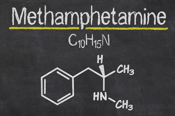 Crystal Meth: Die chemische Formel von Methamphetamin