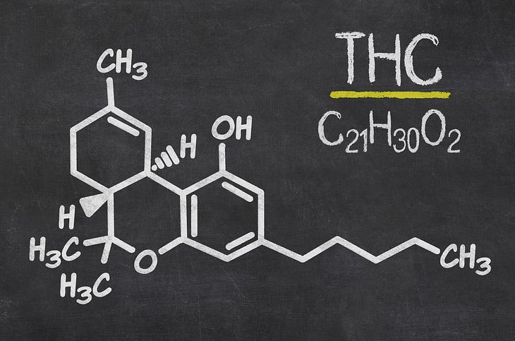 Marihuana: Die chemische Formel von THC