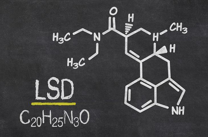 Die chemische Formel von LSD