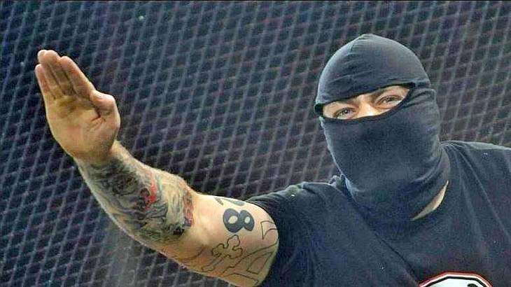 Hooligan Ivan Bogdanov: Ivan, der Schreckliche war bei der Partie Roter Stern Belgrad gegen den 1. FC Köln in Deutschland