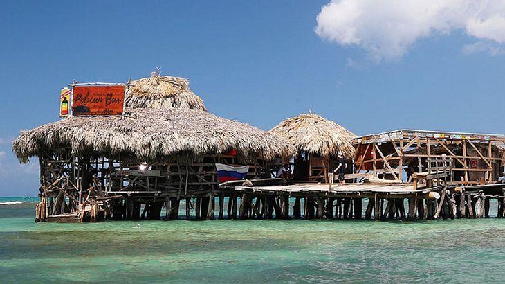 Floyd's Pelican Bar auf Jamaica