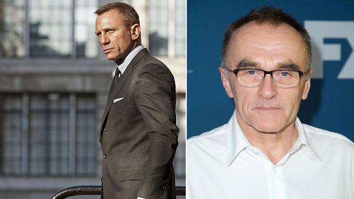 Daniel Craig als James Bond und Regisseur Danny Boyle