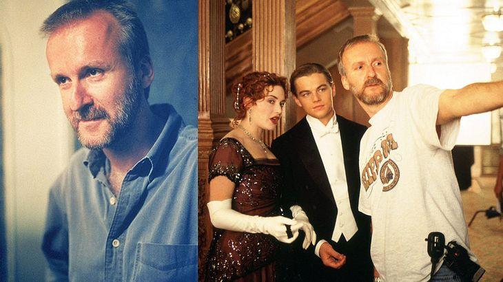 """James Cameron bei den Dreharbeiten zu """"Titanic"""""""