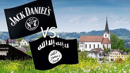 Nachbarn verwechseln Jack-Daniels-Fahne mit IS-Flagge