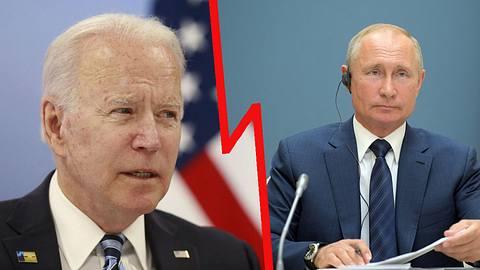 Joe Biden und Wladimir Putin - Foto: Getty Images / STEPHANIE LECOCQ /  ALEXEY DRUZHININ (Kollage)