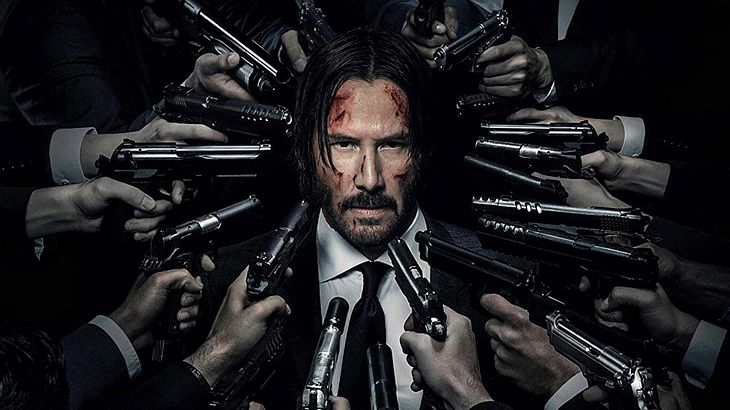 "Keanu Reeves in ""John WIck 2"""