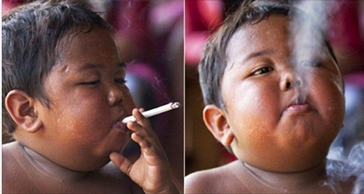 Rauchendes Kind