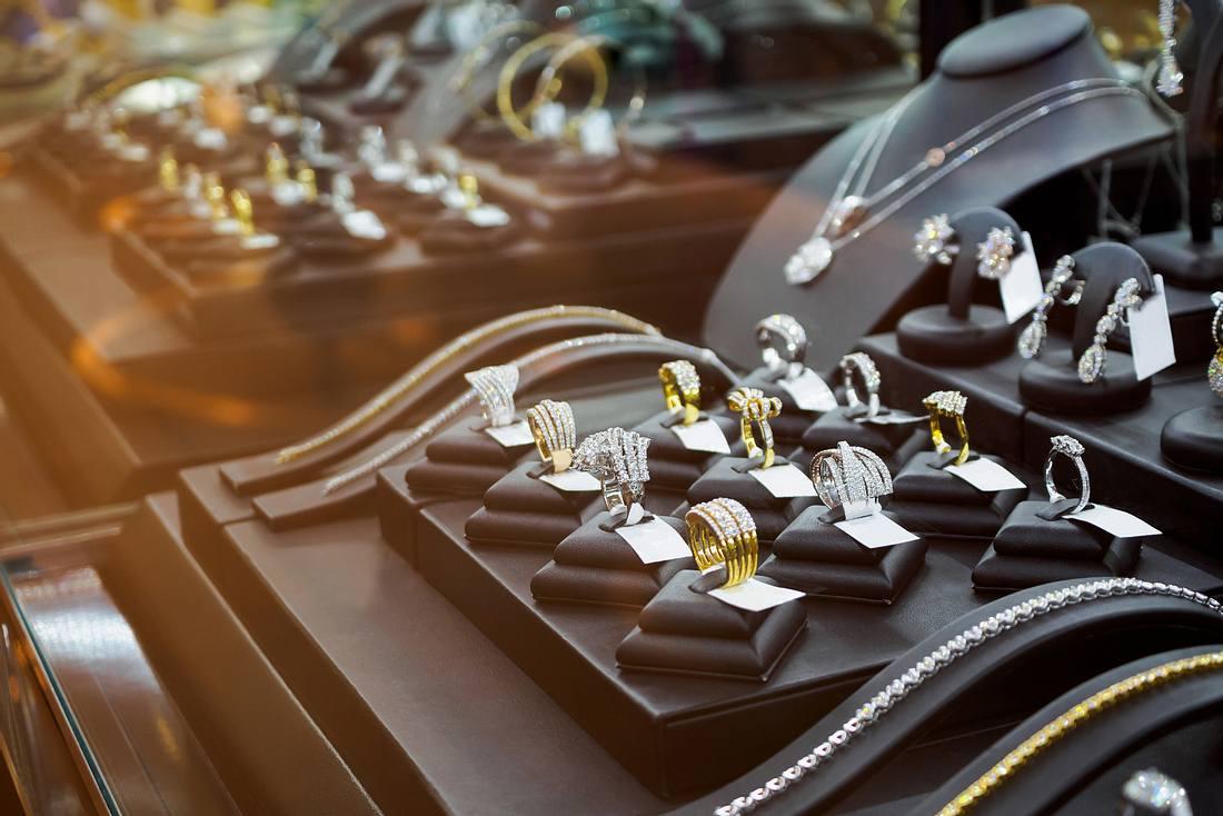 Juwelier-Auslage