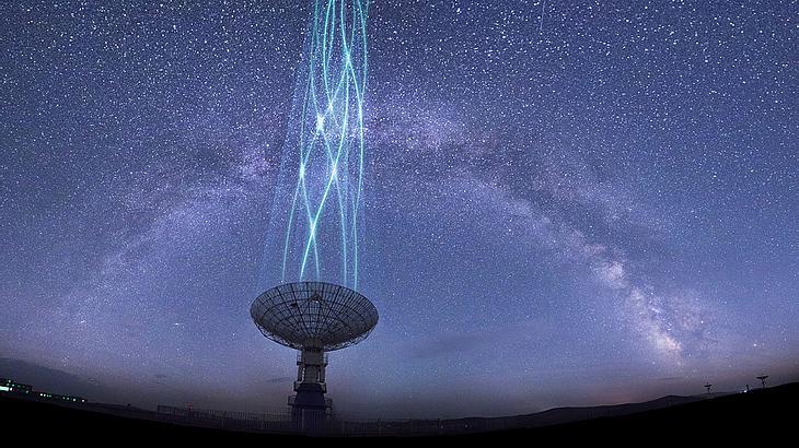 Ein Observatorium in Kanada hat mysteriöse Signale empfangen (Symbolfoto).