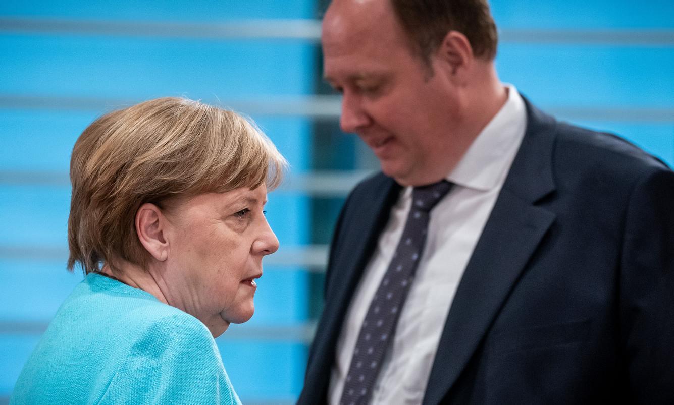 Angela Merkel und Helge Braun