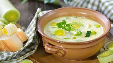 Käse-Lauch-Suppe-Rezept: So einfach gehts