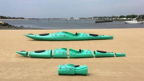 Pakayak: Steckbare Kayaks, die zum Rucksack umfunktioniert werden können - Foto: Pakayak