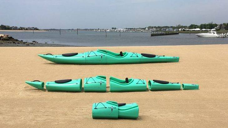 Pakayak: Steckbare Kayaks, die zum Rucksack umfunktioniert werden können