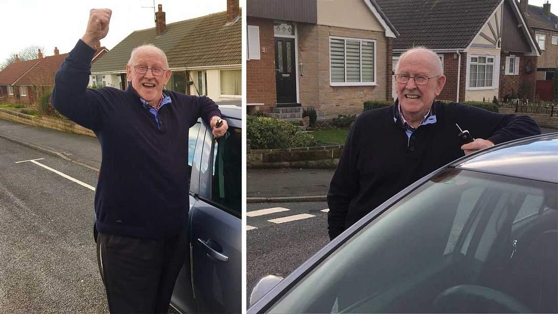 Keith machte mit 79 Jahren den Führerschein - Foto: Twitter / Ian White