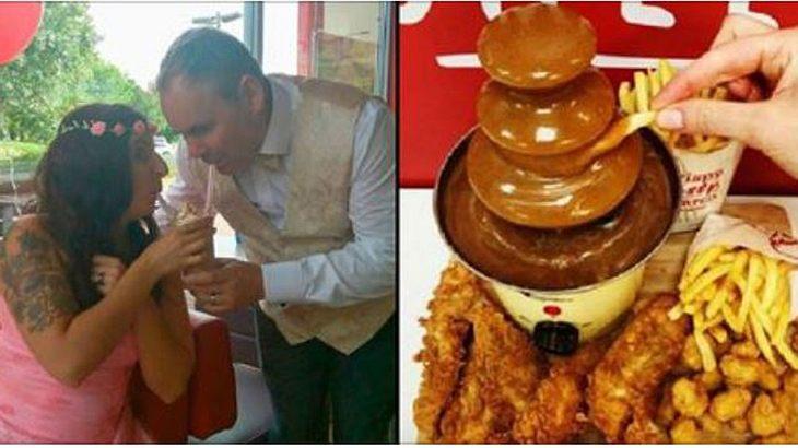 Cherish und Edward Simms feiern Hochzeit im KFC