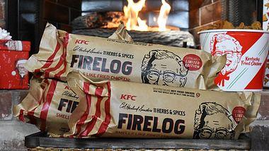 KFC verkauft Kaminholz, das nach fried Chicken riecht