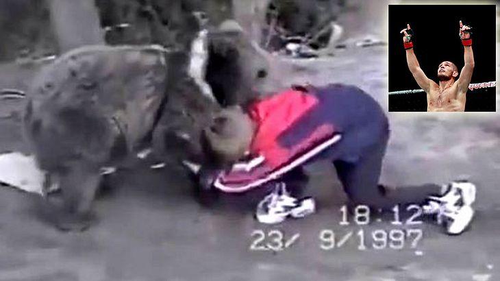 UFC-Fighter Khabib Nurmagomedov ringt im Alter von neun Jahren mit einem Bären