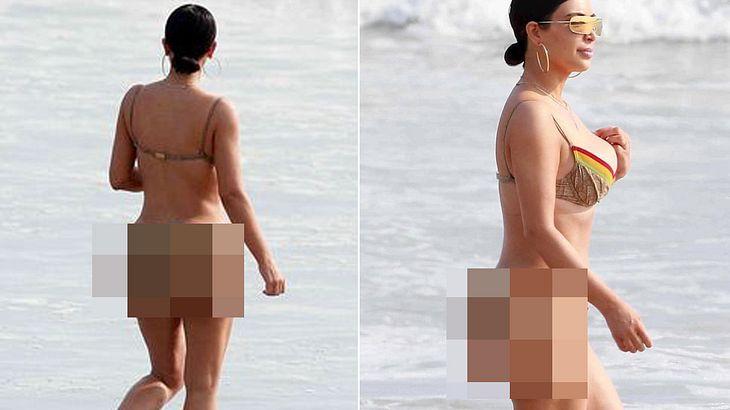 Kim Kardashian hat Cellulite: Das beweisen Fotos, die Paparazzi an einem Strand in Mexiko schossen