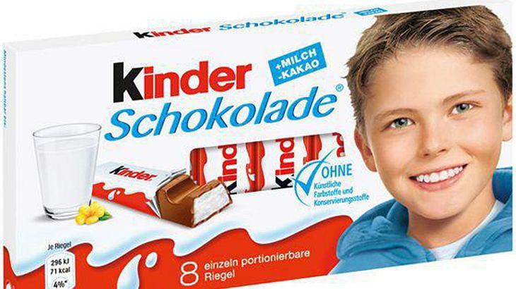 Seit 2005 ist dieses Gesicht auf der kinder-Schokolade zu sehen.