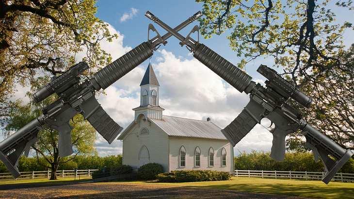 Eine Freikirche verlost Sturmgewehre