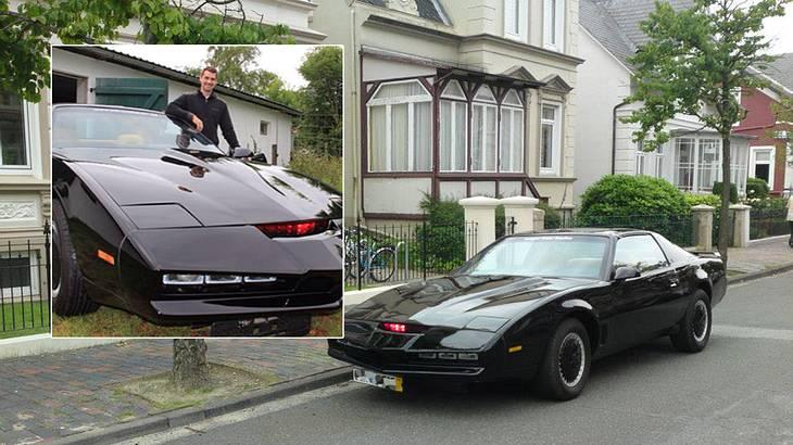 """Männlich! Deutscher """"Knight Rider""""-Fan baut Kult-Auto K.I.T.T. nach"""