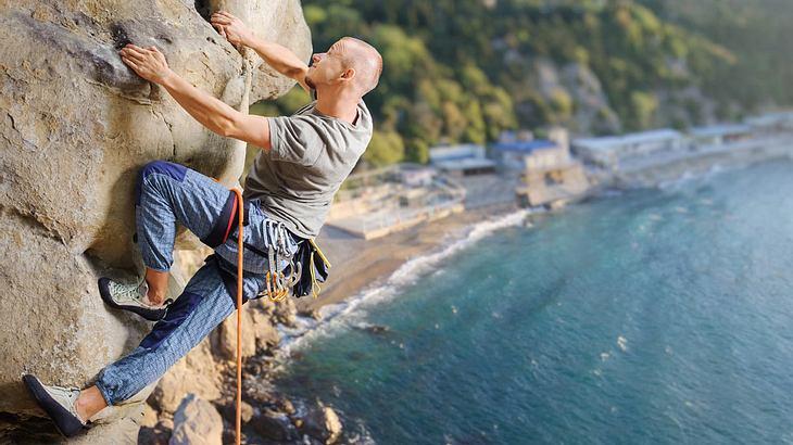 Fürs Klettern braucht man Kletterschuhe