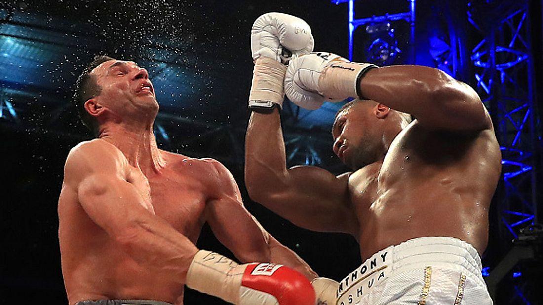 Hagelt es bei der Neuauflage des Boxkampfes Klitschko gegen Joshua wieder Aufwärtshaken?