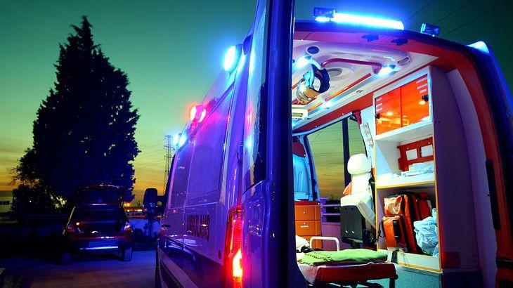Offener Krankenwagen