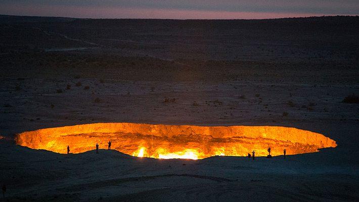 Der Krater von Derweze, Turkmenistan - Foto: iStock / Iwanami_Photos