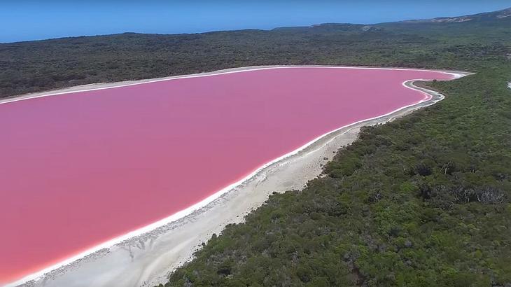 Der See sieht aus wie Hubba Bubba