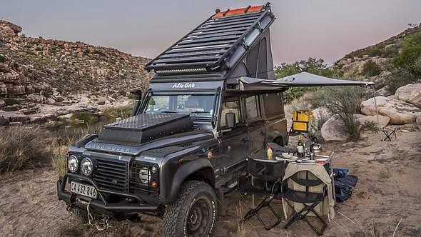 Land Rover Icarus mit Rooftop: Der perfekte Safari-Camper