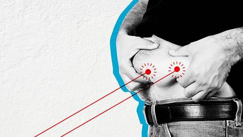 Männerbauch mit Körperfett - Foto: iStock/travenian