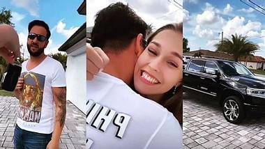 Laura schenkt Michael ein Auto - Foto: Instagram / lauramuellerofficial